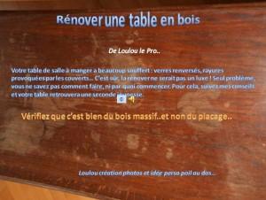 Comment r nover une table en bois - Comment renover une table en bois ...