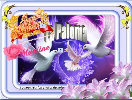 Joyeux Anniversaire Martine Les Pigeons