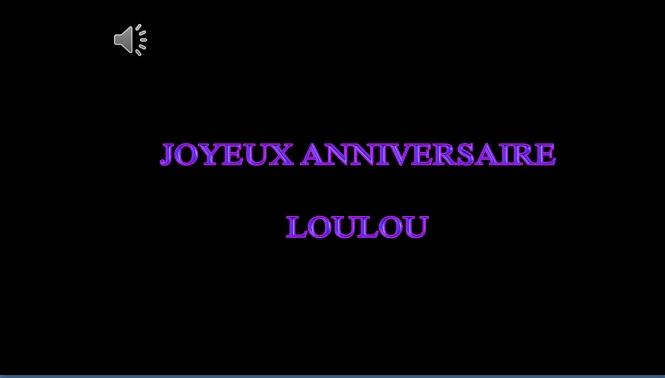 Cadeau De Christine Pour Loulou