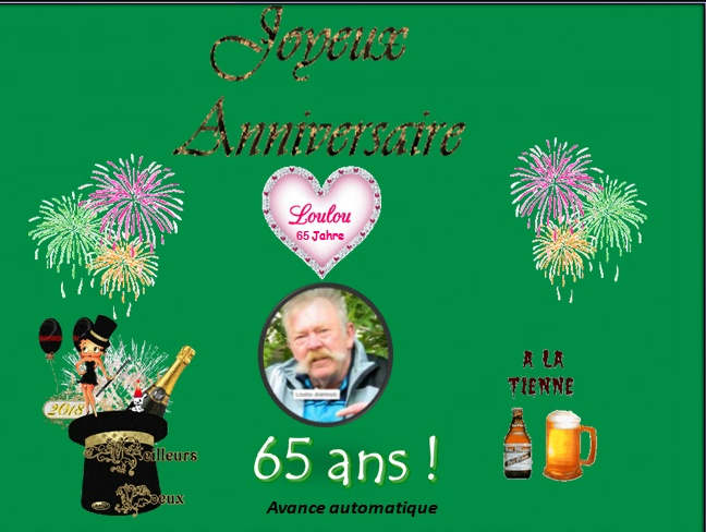 Joyeux Anniversaire Loulou 65 Ans Pps De Richard